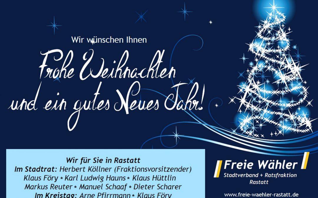 Die Freien Wähler wünschen frohe Weihnachten
